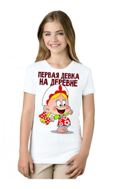 Детская футболка Первая девка на деревне