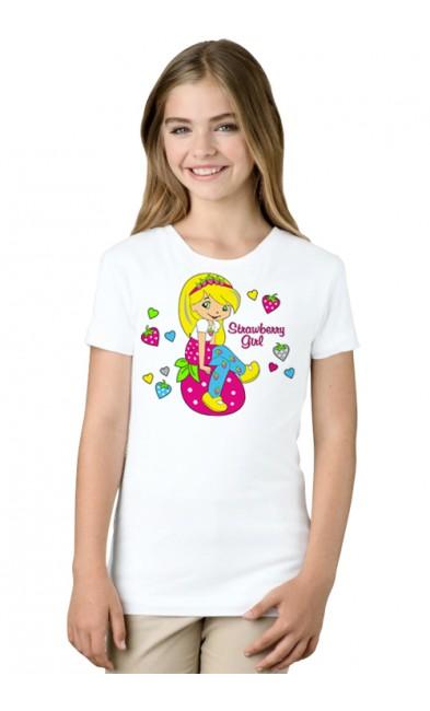 Детская футболка Strawberry girl