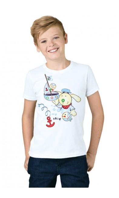Детская футболка Мой кораблик