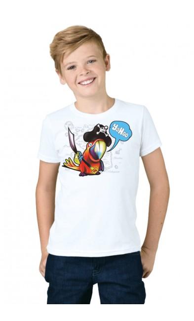 Детская футболка Попугай-пират