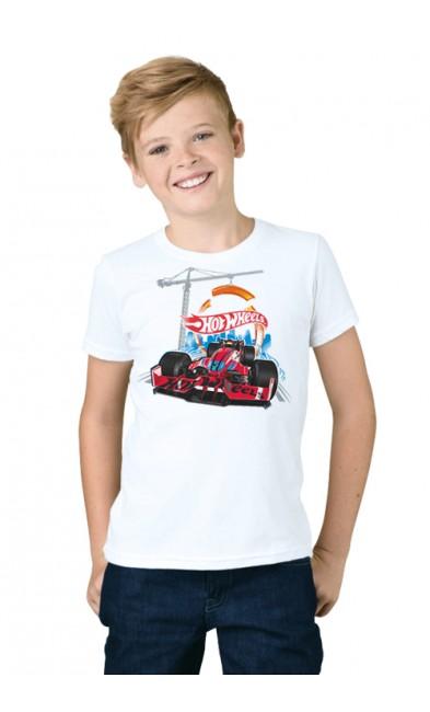 Детская футболка Hot Wheels