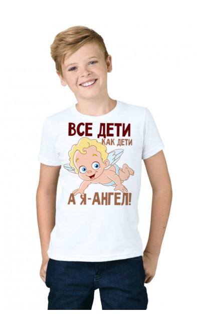 Детская футболка Все дети, как дети, а я - ангел!