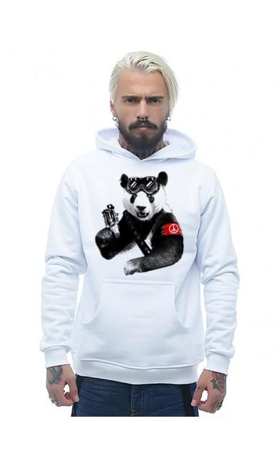 Мужская толстовка Панда с оружием