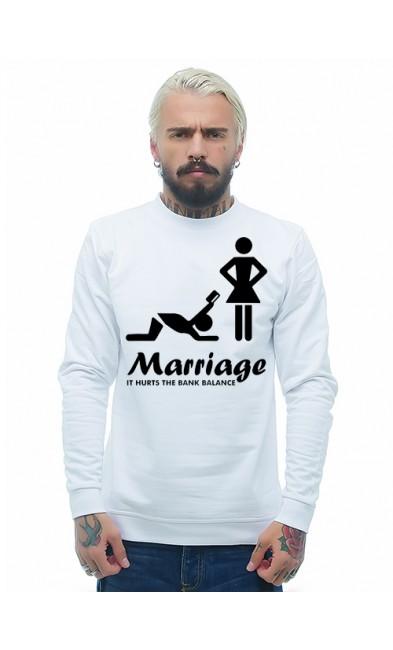 Мужская свитшоты Свадьба - это дорого