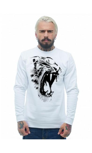 Мужская свитшоты Белый Тигр
