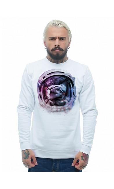 Мужская свитшоты Кот- космонавт