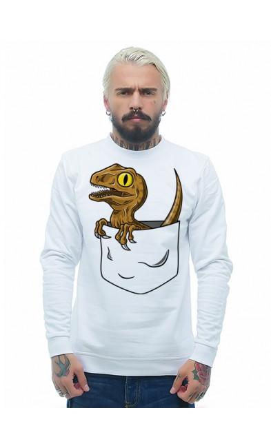 Мужская свитшоты Динозаврик в кармане