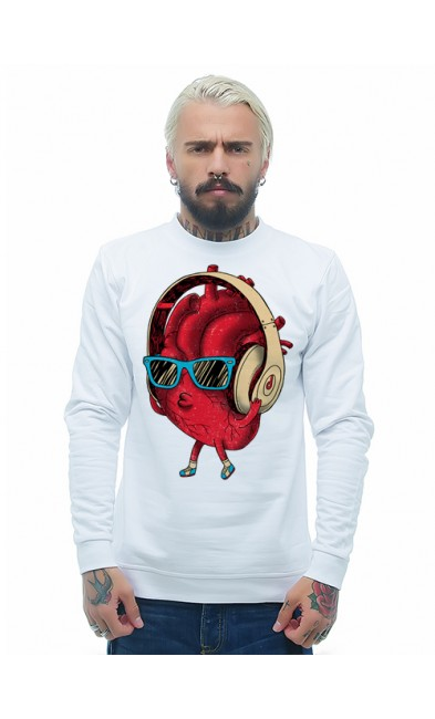 Мужская свитшоты Сердце