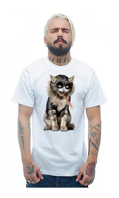 Мужская футболка Кошка