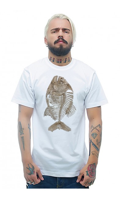 Мужская футболка Скелет рыбы