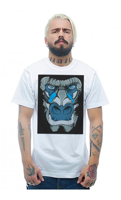 Мужская футболка Голова гориллы