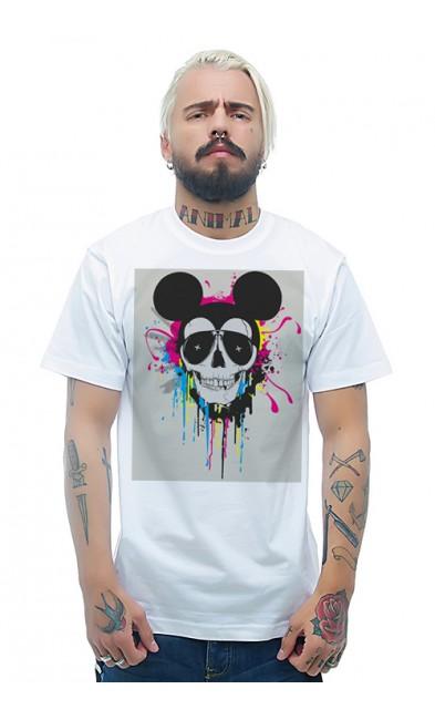 Мужская футболка Череп Микки