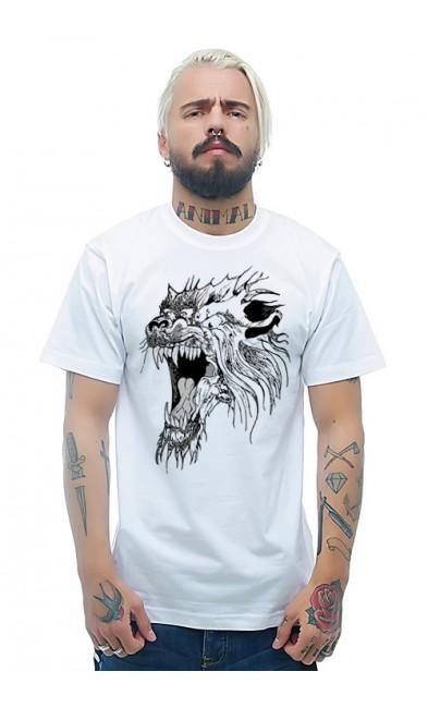 Мужская футболка Свирепый зверь