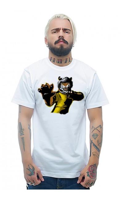 Мужская футболка Кунг-фу тигр