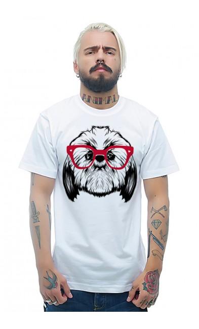 Мужская футболка Пёсик в очках