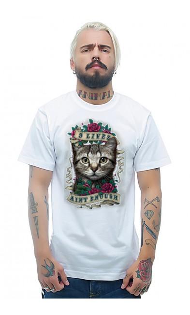 Мужская футболка 9 жизней