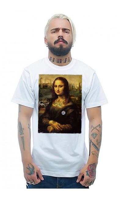 Мужская футболка Современная Мона Лиза