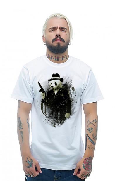 Мужская футболка Панда - гангстер