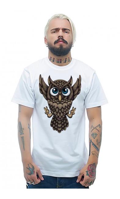 Мужская футболка Сова