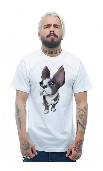 Мужская футболка Собака