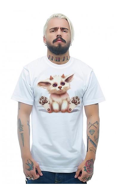 Мужская футболка Пушистый чертенок