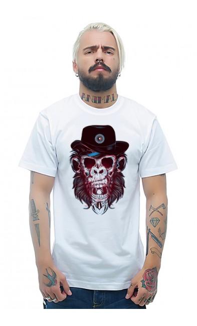 Мужская футболка Череп гориллы
