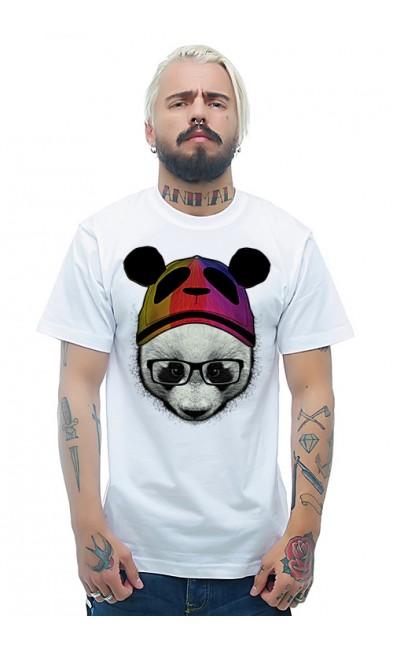 Мужская футболка Панда в шапке