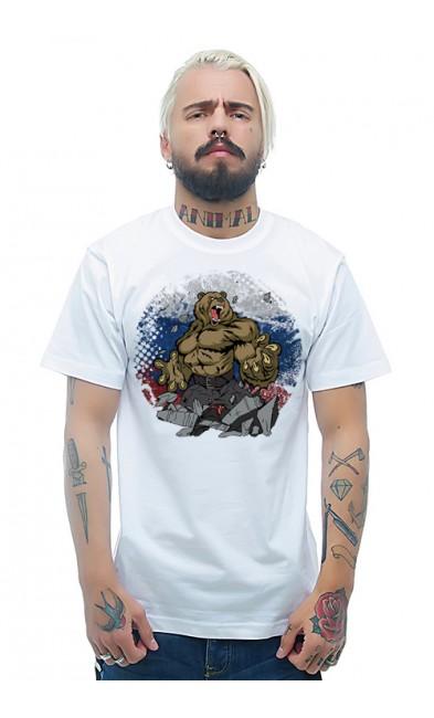 Мужская футболка Русский медведь