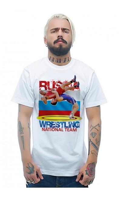 Мужская футболка WRESTLING