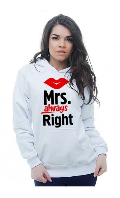 Женская толстовка Mrs. always Right