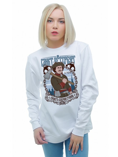 магазинов России свитшот женский купить в спб печати виде