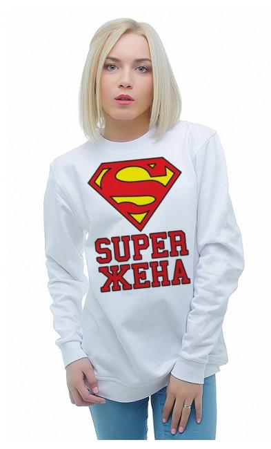 Женская свитшоты SUPER ЖЕНА