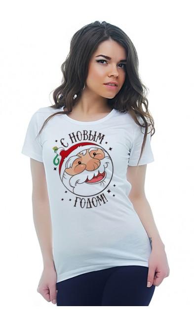 Женская футболка С Новым годом! Дед Мороз