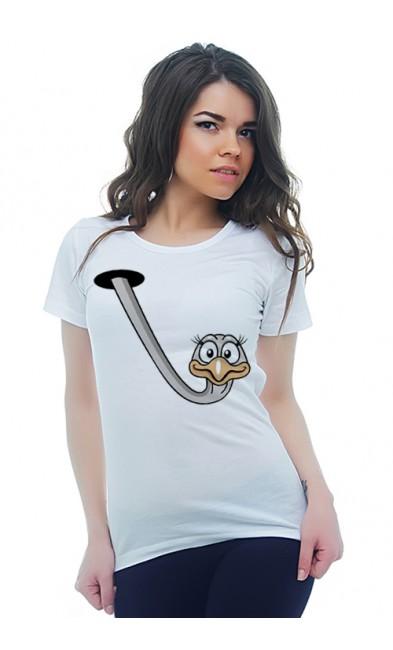 Женская футболка Страус