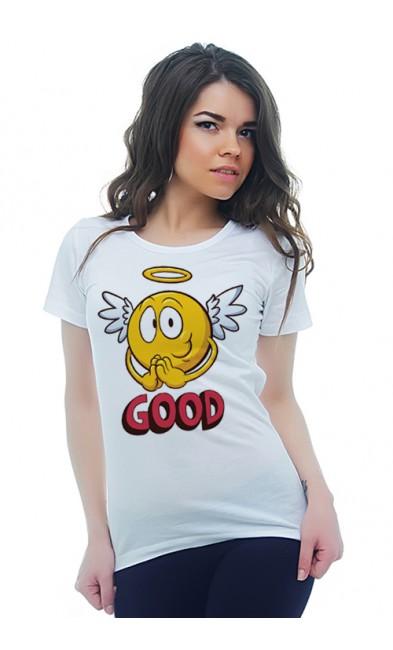 Женская футболка GOOD