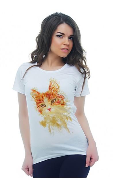 Женская футболка Кошка