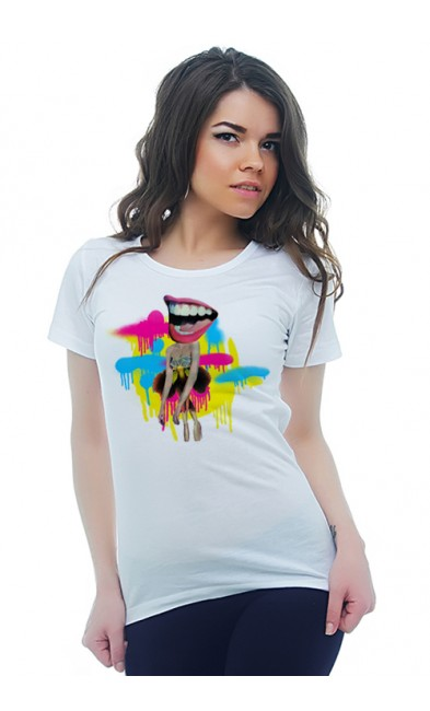 Женская футболка Улыбка