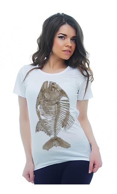 Женская футболка Скелет рыбы