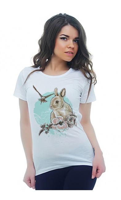 Женская футболка Кролик и Орёл