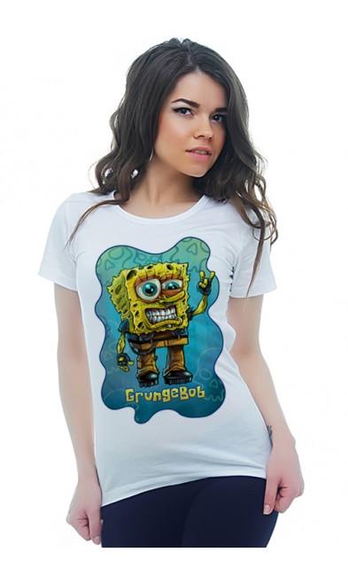 Женская футболка GrungeBob