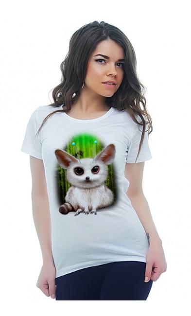 Женская футболка Фенек