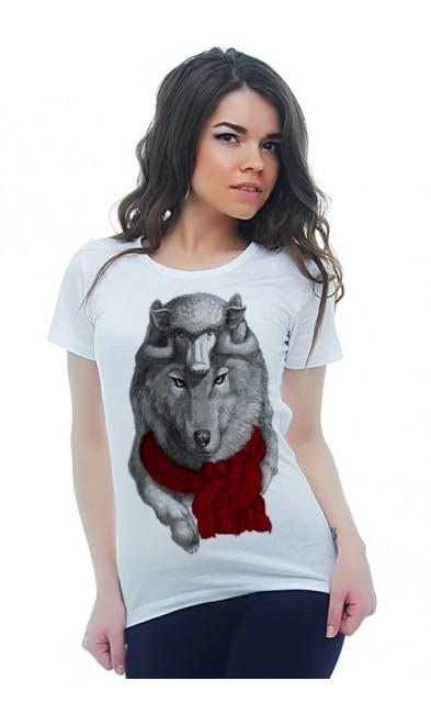 Женская футболка Двухголовый