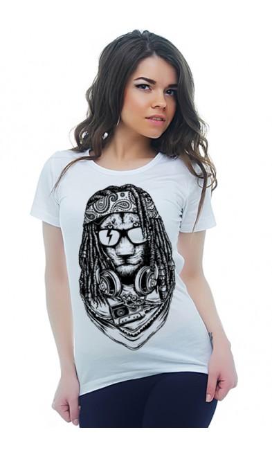 Женская футболка  Рок и рёв
