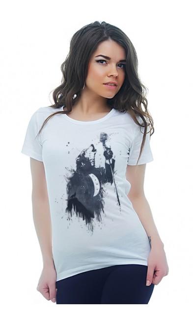 Женская футболка Волчья песня