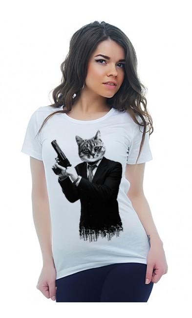 Женская футболка Охранник