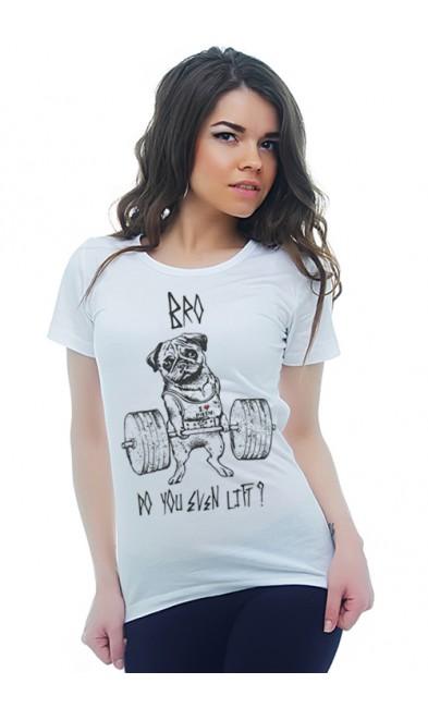 Женская футболка Штангист