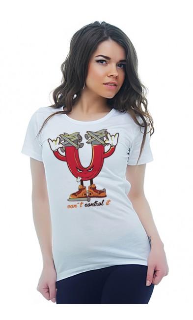 Женская футболка Магнит
