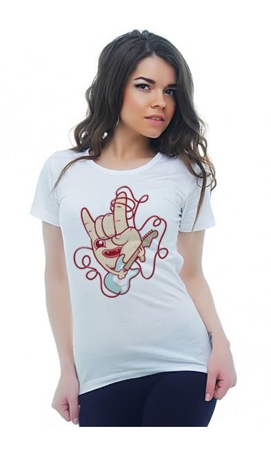 Женская футболка Гитарист