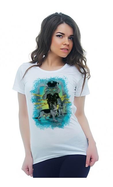 Женская футболка Полиция