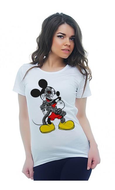 Женская футболка Микки-монстр